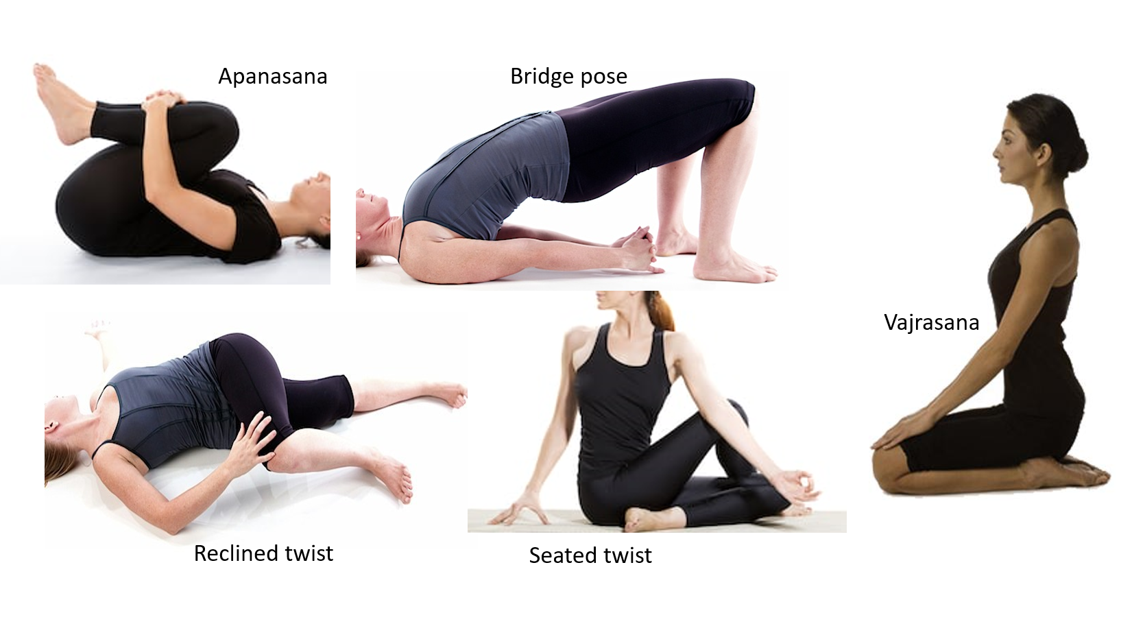 postures to relieve gas