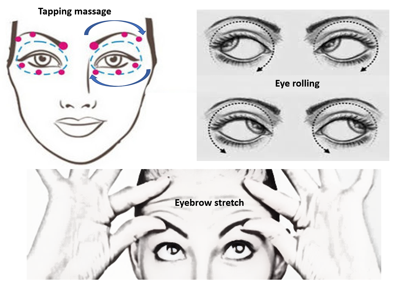 Eye routines to prevent dark circles