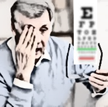 Vision loss blurring